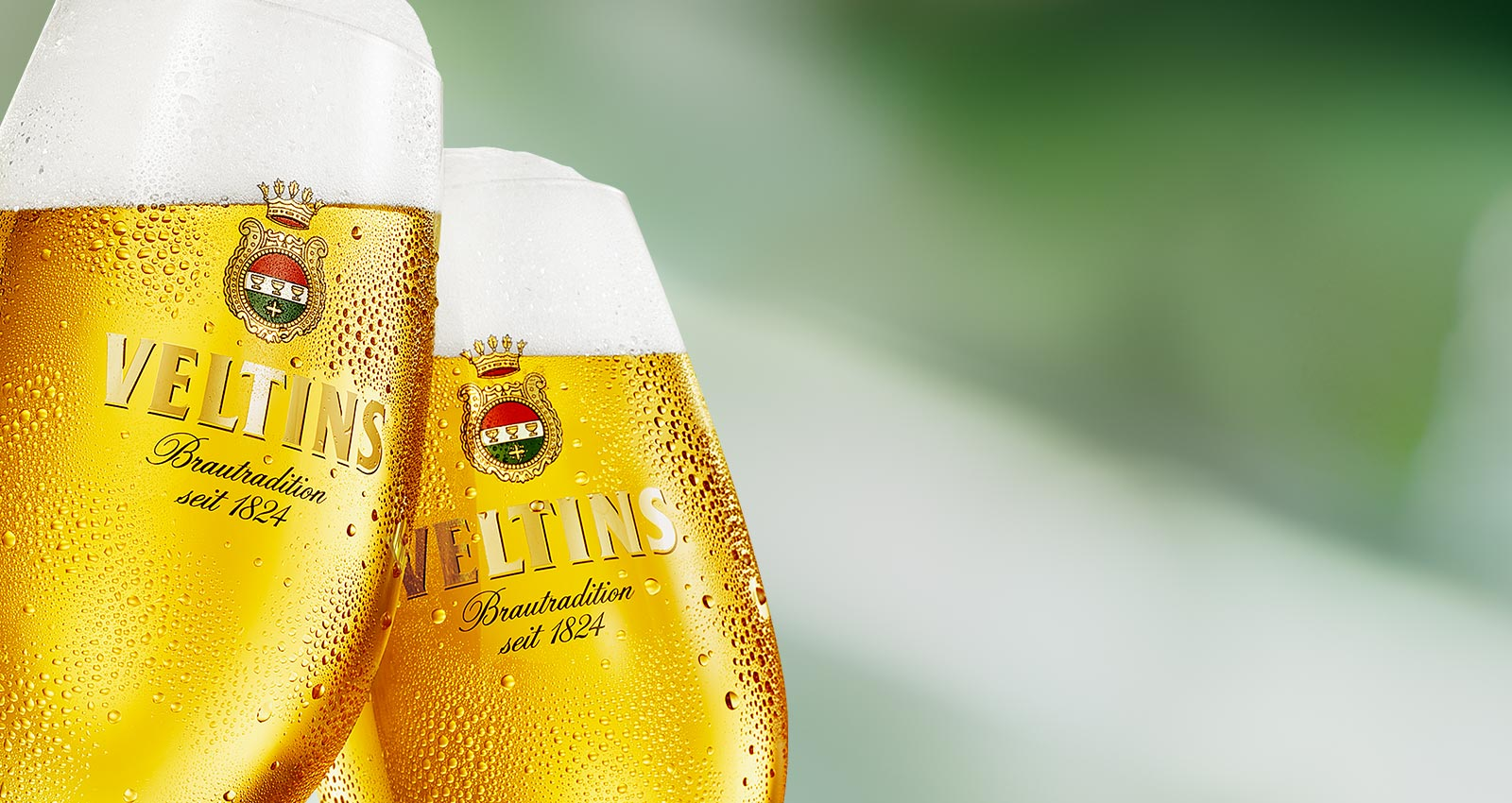 Frisches VELTINS - Leidenschaft ist unser Bier